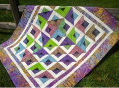 Cozy Quilt Designs Daniela Stout | into Home Plate! Daniela Stout's pattern Radiant. Dynamic design ...
