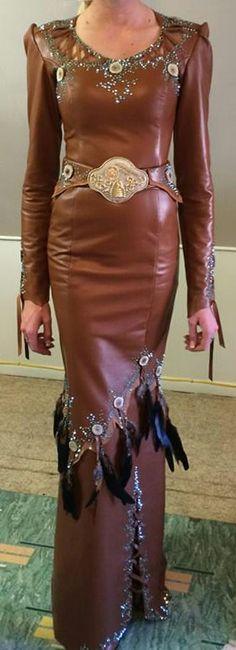 rum lambskin dress