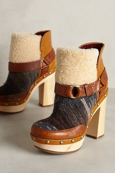 These are absolutely G.O.R.G.E.O.U.S!!!!!!! Woolrich Artist Booties #anthropologie