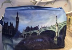 Catseye London Large Cosmetic Bag Cityscape With Black Labrador Dog Rare  | eBay
