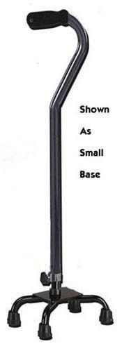 `Quad Cane-Large Base Black