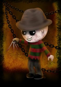 In summary to that gift for Halloween that you are looking for Horror Cartoon, Horror Icons, Horror Films, Creepy Horror, Creepy Art, Freddy Krueger, Arte Horror, Horror Art, Halloween Horror