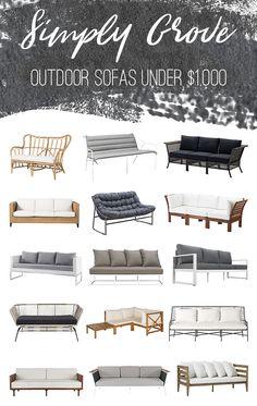 Outdoor Sofas Under $1,000 via Simply Grove