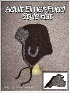 Adult Elmer Fudd Style Hat Crochet Pattern PDF - INSTANT DOWNLOAD. on Etsy, $2.99