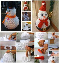 plastic-cups-snowman-praktic-ideas