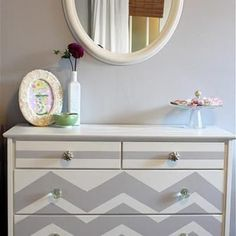 How to paint a Chevron dresser (Will be doing this!!!)