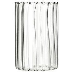 Long Wave Glass Tumblers, Set of 6 #summer #oka #glassware #dining #entertaining