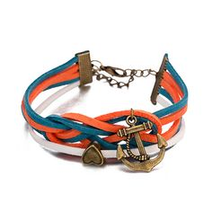 nice  Anchor Retro Leather Wrap Braided Wristband Cuff Punk Men Women Bracelet Bangle - For Sale View more at http://shipperscentral.com/wp/product/anchor-retro-leather-wrap-braided-wristband-cuff-punk-men-women-bracelet-bangle-for-sale/