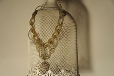 collana MEDUSA - cod. 01 - perle  resina e cristalli swarovski necklace MEDUSA - resin beads and swarovski's crystals http://www.lacortevenezia.it/
