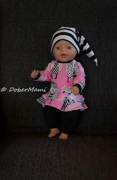 Luomalla: Baby Bornille body, peplum, frillamekko ja housut ...