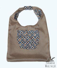 Miękka, dwustronna torba z materiału.  http://pakamera.wix.com/pakamera-wloczykija#!torba-w-centki/c1xmt