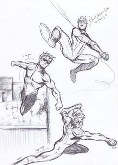 Not original work as I took the poses/images from an Impact book by Lee Garbett but I thought I'd try sketching with a pen and moving to a more western . Drawing Base, Figure Drawing, Drawing Techniques, Drawing Tips, Pose Reference, Drawing Reference, Comic Character, Character Design, Superhero Art Projects