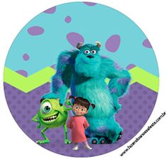 Monster Inc Party, Monsters Inc Cookies, Monster University, Toddler Dolls, Topper, Wooden Letters, Smurfs, Alice, Stickers