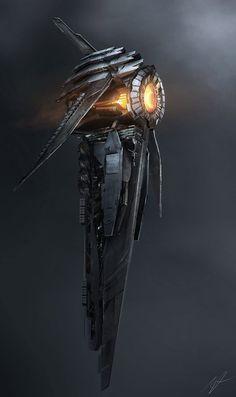 concept ships: Spaceship art by Adam Burn