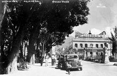 Alameda en 1945 en Cd. de Oaxaca ,Oaxaca Mexico