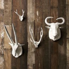 Paper Mache antlers  What a clever idea.