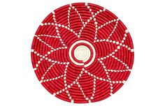 """16"""" Hope Tray - Fiery Red/White - All Across Africa"""