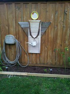 my garden angel made from old shutter