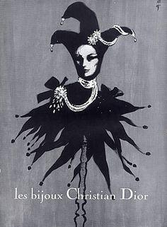 hoodoothatvoodoo:  Rene Gruau For Christian Dior Jewellery 1962