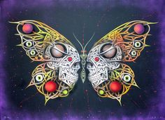 Otto Schade - Skulls Key 4 2016 - 91cmx122cm - spray paint mixed technique on canvas - edition1 Ministry of Walls - Streetart Gallery Shop #streetart #ottoschade #osch #kunst #art #mow #mowcollection