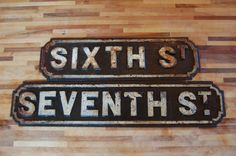Seven Vintage Cast Iron Irish Street Signs by Touchedwood on Etsy, £2100.00