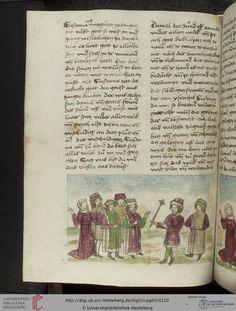 Cod. Pal. germ. 60: Historienbibel ; Irmhart Öser ; 'Brandans Reise' u.a. (Südwestdeutschland, um 1460), Fol 57v
