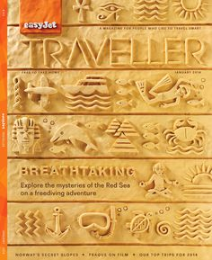 Illustrator Elliot Quince's plasticine cover for easyJet's in flight magazine, Traveller