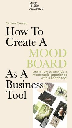 A 3-step program shows you how to mood board with intention and strategy so you gain clarity and focus and can create a memorable experience for your clients when presenting a project. #moodboard #moodboardacademy