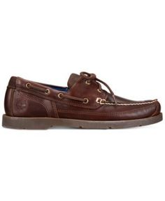 Timberland Men's Piper Cove Leather Boat Shoes - Brown 9
