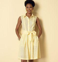Misses'/Miss Petite/Women's/Women Petite Shirtdress and Sash