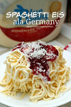 spaghetti eis ala Germany is a great summer treat and Recipe idea #SoHoppinGood, #TopYourSummer #ad