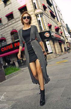 e820ef3641 belted long cardi over shorter dress Belted Cardigan