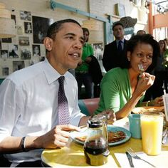 Pancakes with Barry. Breakfast is the most important meal of the day.