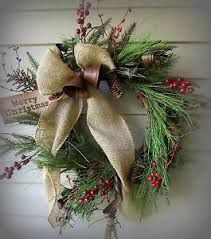 christmas wreaths with burlap