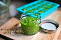 Make and Freeze Homemade Pesto l www.SimplyScratch.com