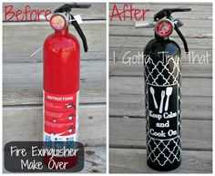 Fashionably put out unwanted flames with this easy, DIY Fire Extinguisher Project!