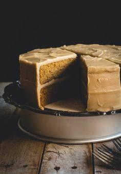 Brown Butter Pumpkin Spice Cake with Penuche Frosting // butterlustblog.com