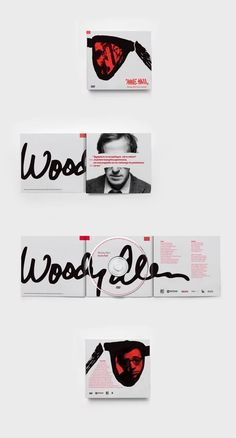 are some of the most beautiful album covers we've found—and here's what you can learn from them Woody Allen DVD Covers by Kamil Borowski, via Behance MoreThe In Sound from Way Out! The In Sound . Cd Design, Album Cover Design, Layout Design, Design Room, Graphic Design Magazine, Magazine Design, Woody Allen, Design Bauhaus, Cd Album Covers