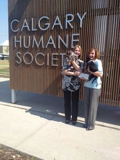 Here's a photo of Petsecure territory manager Chantele presenting a donation cheque in the amount of $837.50 to #Calgary Humane Society executive director Carrie Fritz. The donation is for their involvement in our Adoptsecure program.   Keep up the good work, CHS!