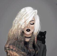 Image about cute in ♕★Girly_M★♕ by ℋ ℴ ℘ ℯ l ℯ હ હ Girly M, Beautiful Drawings, Beautiful Artwork, Cute Drawings, Beautiful Images, Art And Illustration, Dark Art, Art Sketches, Art Girl