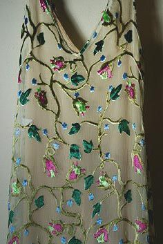 Prada devore velvet gown, Spring 1997