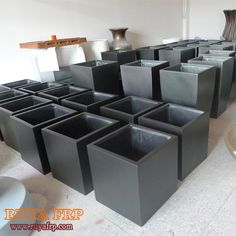 Fiberglass outdoor flowerpot,classic black/grey color,square outside planters-in Flower Pots & Planters from Home & Garden on Aliexpress.com | Alibaba Group