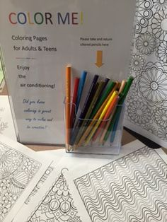 Adult Coloring pages to enjoy in the library at the Plainville Public Library
