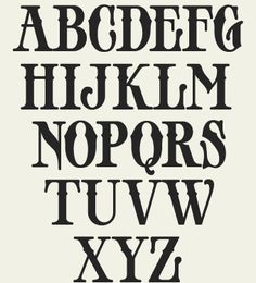 Old fashion font