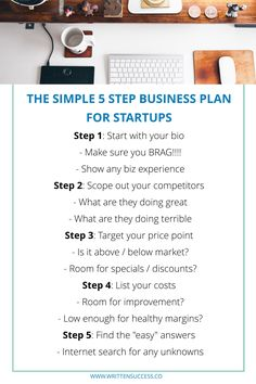 The Simple 5 Step Business Plan for Startups Learn the EASY way to knock out a business plan for new startup businesses! Business Plan Outline, Making A Business Plan, Writing A Business Plan, Start Up Business, Starting A Business, Small Business Plan Template, Simple Business Plan, Business Money, Startup Business Plan