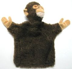 OLD-GERMAN-STEIFF-LOVELY-MONKEY-HAND-PUPPET-TOY-BUTTON-TAG-x