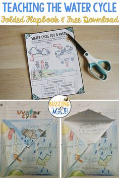 Water Cycle Activities, Word Wall Words, Worksheets and Water Cycle Song, Water Cycle Craft, Water Cycle Poster, Water Cycle Project, Water Cycle Activities, Weather Activities, Weather Crafts, Stem Activities, Science Lessons