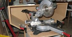 I got fed up with the mess from my slide mitre saw so decided to make an enclosure from which the dust could be extracted. It is certainly . Woodworking Vacuum, Must Have Woodworking Tools, Woodworking Tools For Beginners, Mitre Saw Dust Collection, Shop Dust Collection, Sliding Mitre Saw, Mitre Saw Station, Miter Saw Table, Chop Saw