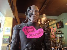 "Have your pizza with the Borg at ""Flying Saucer Pizza Company"" in Salem, MA"