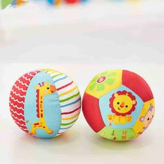 Baby Toys Animal Ball Soft Stuffed Toy Balls Baby Rattles Infant Babies Body Building Ball